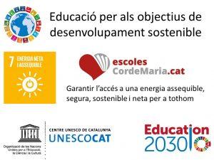 educació per als objectius de desenvolupament sostenible Cor de maria valls steamcat