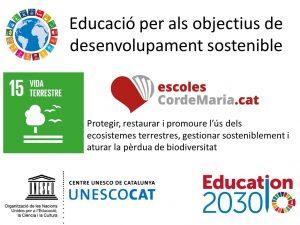 educacio obectius desenvolupament sostenible vida terrestre cor de maria